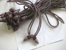 Authentic Antique Vintage Burgundy/Cream Campaign Hat Cord Unused!!