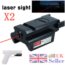 2pcs 20mm Picatinny Weaver Rail Mount Airsoft Pistol Compact Red Dot Laser Sight
