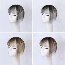Women Human Hair Handwoven 3D Air Bangs Thin Fringe Top Pieces Extensions DIY