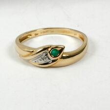 Ring in 585 Gelbgold mit Smaragd und Diamant