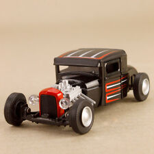 Model Car Ford Hot Rod Sounds Black Red White Stripes 12cm Lights Sounds Opening