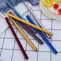 Reusable Drinking Straw Stainless Steel Metal Straws Wide Straw for Smoothies β
