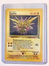 ZAPDOS 30/62 Rare ENGLISH Vintage Fossil Series Pokemon NEAR MINT CONDITION Card