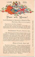 """""""Peace with Honour! """" Lord Kitchener, to Secretary of State of War,Boer..Tuck PC"""