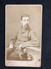 Victorian Carte De Visite CDV: Gentleman: Copper: Birmingham: Very Thin Man