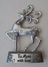 aa To mom with love MERRY CHRISTMAS REINDEER miniature figurine ganz