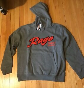 Rage Applique Hooded Sweatshirt Size M