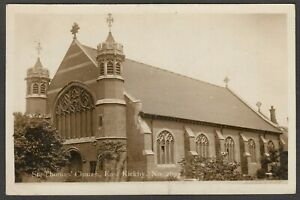 Postcard Kirkby in Ashfield the St Thomas Church in East Kirkby posted 1925 RP