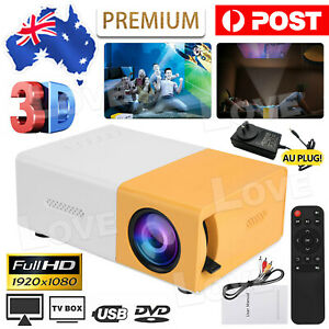 Portable Mini Projector YG300 HD LED Home Theater Cinema HD 1080P AV USB HDMI AU