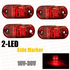 4X Red LED Side Marker Light Indicator For Truck Car Van Trailers Lamp 12/24V US