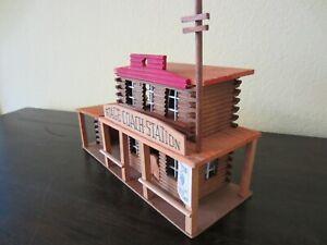 ELASTOLIN HAUSSER 7638 COACH STATION Western Stadt Cowboy Indianer Holz Haus