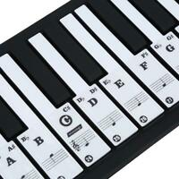 Transparent Removable Piano Key Board Sticker For 61/88 Key Electronic Pianos