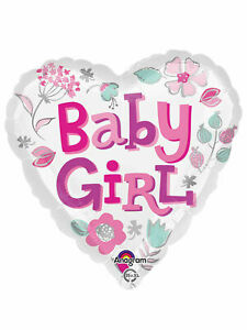 43cm Baby Girl Heart Foil Balloon New Arrival House Party Decoration