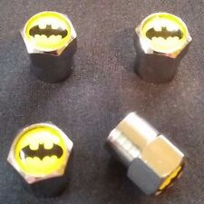 Metal Tire Air Valve Stem Cap BATMAN Logo Car Badge Emblem