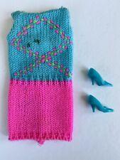 Vintage Mod Barbie #1804 Knit Hit Outfit Complete Circa 1968
