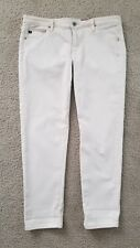 "AG Adriano Goldschmied ""Stevie Ankle"" Pant Capri Light Tan/Cream Size 31P"