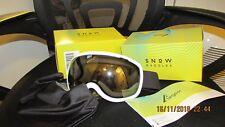 ELEGEAR SNOW / SKI GOGGLES, white frame, silver lens, new in box