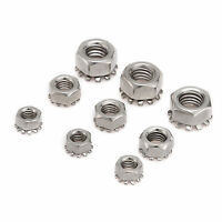 Hex Tooth Nut Lock Washer Nuts M3 M4 M5 M6 M8 A2 Stainless Steel  Screw Bolt