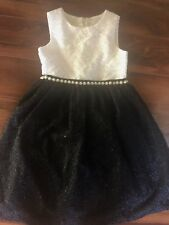 NEW girls AMERICAN PRINCESS DRESS holiday BLACK WHITE formal CHRISTMAS size 7