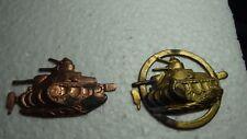 US ARMY WORLD 11  US ARMY USMC TANK MEDAL 2  PINS UNFINISHED BLAND  BX B#11