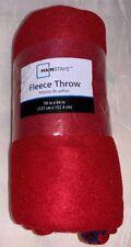 NEW- Mainstays Fleece Throw Red Blanket 50 X 60 In