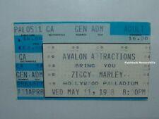 ZIGGY MARLEY 1988 Concert Ticket Stub HOLLYWOOD PALLADIUM Melody Makers RARE