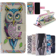 Fashion 3D Owl Flip PU Leather Case For i Phone 5 5S 6G wallet Cover Coque Funda