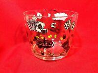Vintage Hazel Atlas Glass Ice Bucket Casino Gambling theme
