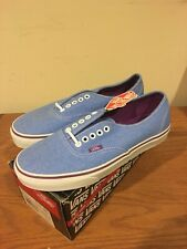 Vans Authentic Washed Twill Blue Size 8.5 New