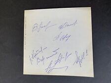 DYNAMO MOSKAU 1985 8 x signiert signed Albumblatt 15x15 Autogramme