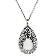 Collares y colgantes de joyería con gemas perla plata