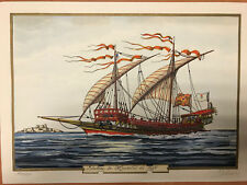 "Jean GRADASSI  ""Galère de Marseille en 1695, très rare, neuf"