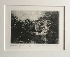 "NORMAN ACKROYD RA 1938 ""Jackson's Pond"" Limited Ed ETCHING ed 11/25"