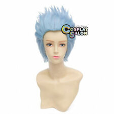 30CM Anime for Rick And Morty Short Mixed Light Blue Layered Cosplay Wig Party