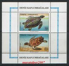 TURKEY 1989, SEA TURTLES ( ANIMAL ) BLOCK MNH