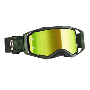 GENUINE Scott Prospect Goggle Kaki Green Yellow Chrome Works