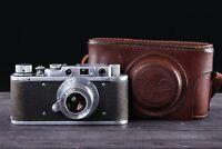 Zorki 1 camera | Industar-22 3.5/50 lens | RF | Leica copy | Very Good |