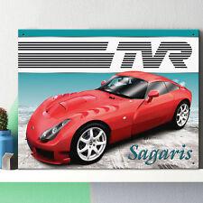 TVR Sagaris Metal Wall Sign Garage Classic Car Men Gift Decor 30x41cm 50160