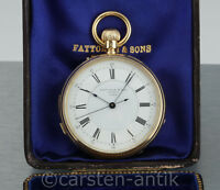 1869 George Oram 18k Gold Hochfeine Taschenuhr Minuten Repetition seconde morte