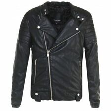 Unbranded Waist Length Faux Leather Coats & Jackets for Men