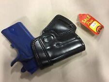 """LEFT Hand Leather SOB Holster - COLT 1911 Officer 3"""", KIMBER ULTRA (# 5093L BLK)"""