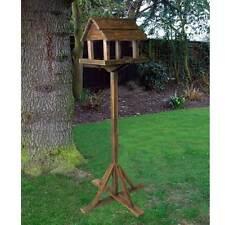 Kingfisher Premium Wooden Bird Table Feeder Station Wild House Nesting Standing