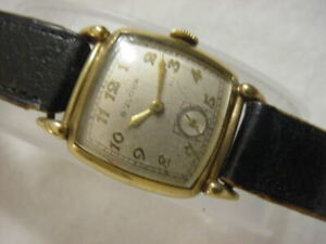 Vintage GOLD FD large antique Art Deco 21 JEWELS BULOVA CURVEX mens watch