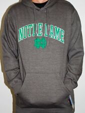 NCAA Notre Dame Fighting Irish Men's Silver Embroidered Pullover Hoodie, Large