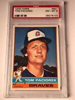 Tom Paciorek 1976 Topps Baseball Card #641 PSA Graded NM-MT 8 Atlanta Braves