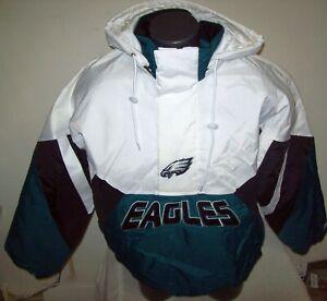 PHILADELPHIA EAGLES Limited Ed NFL Starter Hooded Half Zip Pullover Jacket WHITE