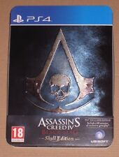 Assassins Creed Black Flag Skull Edition PS4 Case NO GAME Jumbo Steelbook IV