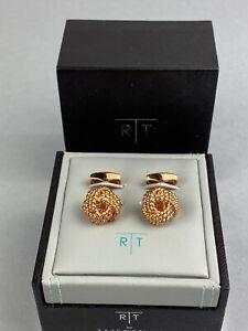Tateossian RT Cufflinks - Rose Gold Cable Knot - BNIB - RRP £160