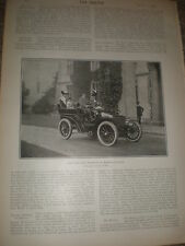 Printed photo Lord and lady Warwick in their car 1903 ref Z