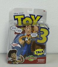 New Toy Story 3 Sheriff Woody Deluxe Talking figure Disney Pixar 8 inch